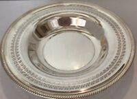 """SILVER PLATE WM ROGERS BOWL ROUND SERVING 12"""" (PATTERN-835 W/ MAKERS MARKS)"""
