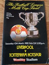 Football League Milk Cup final 1982 Liverpool v Tottenham Hotspur