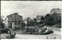"""Ansichtskarte Porschdorf - Blick auf Gasthaus """"Erbgericht"""" mit Straße - SELTEN"""