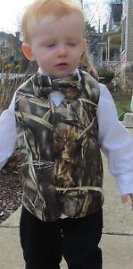 Realtree Max-4 Camo Full Back adjustable formal wedding vest Boy kids childs