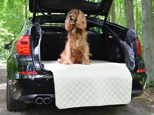Autoschondecke - Kofferraum Schutzdecke - Auto - Hundematte in Creme Kunstleder