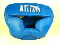 Blitz Storm Martial Arts Head Guard - Size L - Blue- Used - Headguard - Protect