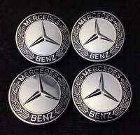 4x for Mercedes Benz 75mm Centre Wheel Hub Cover Caps Logo AMG SL C E S A Chrome