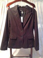 Women's New York & Company Stretch  Black 2 Button Blazer Jacket  Size M NWT
