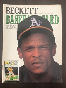 Beckett Baseball Card Monthly Ricky Henderson December 1989