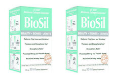 Natural Factors Biosil Hair Skin Nail 1 Oz 30 ml Liquid Collagen (Paks of 2)