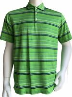 Nike Golf Tiger Woods Collection Men's Polo Shirt Size Medium Green Striped