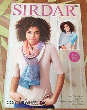 Sirdar Farbrad Doppel Netz Strick Muster für Schal & Umhang - 8032