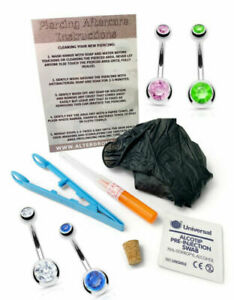 1.6mm Sterile Cannula Ago Pancia Bottone/Piercing Kit - C.Z Gemma Gioielli