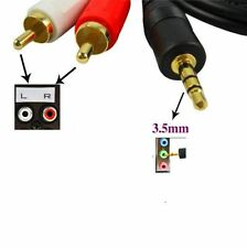 1.5m 5 ft Y 3.5mm Male Plug to Dual 2RCA Jack Cable Stereo PC Audio Splitter Aux