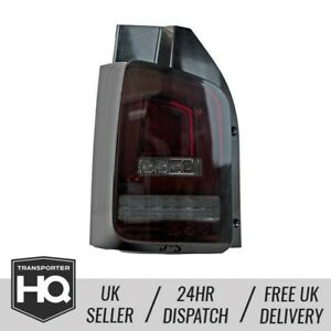 VW T5 LED Rear Lights With Sequential Indicators - RED SMOKE (2003-2009)