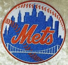 "NY New York Mets 3.5"" Iron /Sew On Embroidered Patch~FREE Ship!"