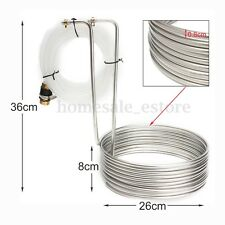 Stainless Steel Immersion Wort Chiller Cooler Elevated Coils For Home Brew Beer