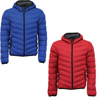 BOYS PADDED JACKET PUFFER PUFFA WARM WINTER QUILTED BUBBLE HOODED SCHOOL COAT