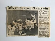 1987 WORLD SERIES MINNESOTA TWINS CLIPPING