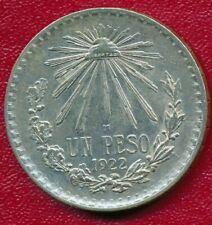 MEXICO 1922 SILVER UN PESO, CHOICE HIGH GRADE COIN