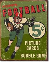 Topps Football 1956 Cards 5 Cents  Metal Sign Tin New Vintage Style #1406