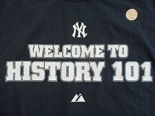 Welcome to HISTORY 101 NEW YORK YANKEES First & Only Lesson (XL) T-Shirt w/ Tags