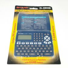 Sharp EL-6800B Electronic Memo Master Organizer 34 KB Sealed