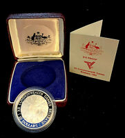 1982 Brisbane Commonwealth Games Sterling Silver Proof 1/2 oz Coin ASW: 0.5948oz