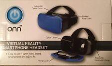 ONN virtual Reality Smart phone Headset Adjustable Padded works w/Apple/android
