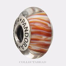 Authentic Pandora Sterling Silver Murano Siberian Tiger Glass Bead 790939