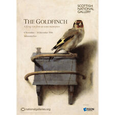 The Goldfinch by Carel Fabritius exhibition poster NOW £1