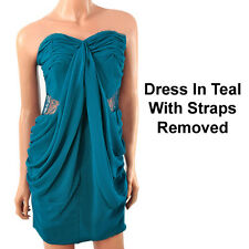 Ladies Party Dress In Red or Teal Evening Dress. Size 8 10 & 12 Prom Club Dress
