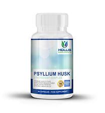 Psyllium Husk Caps IBS Colon Cleanse Intestinal Health Digestion1-2 Month Supply