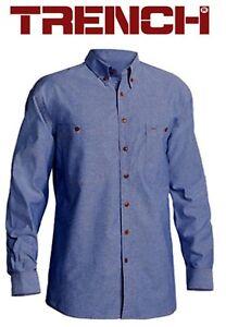 2 Pieces x Cotton Chambray Long Sleeve Shirt - Chambray Blue