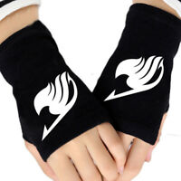 Anime Fairy Tail Cotton Gloves Knitting Wrist Mitten Fingerless Cosplay Lovers