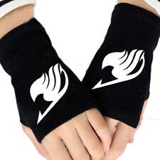 New Anime Fairy Tail Cotton Gloves Knitting Wrist Mitten Fingerless Cosplay