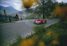 Arturo MERZARIO SIGNED ABARTH Italy Race Car 12x8 Photo AFTAL COA Autograph