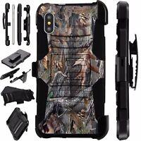 For Apple iPhone X/8/7/7 Plus/6/6S/6 Plus Phone Cover Case CAMO TREE LuxGuard