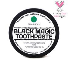 NATURAL MINERAL RICH CHARCOAL COCONUT PEPPERMINT OIL TOOTHPASTE * *100g  * VEGAN