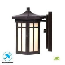 Home Decorators Collection Antique Bronze Outdoor LED Wall Lantern Sconce
