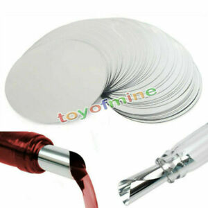 """50pcs Silver Wine Pourer Disk Drop Drip Stop Pouring Pour Spout Accessories 3"""""""