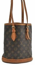 Authentic Louis Vuitton Monogram Bucket PM Shoulder Bag M42238 LV A5138