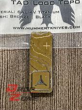 "New 2"" Vertical Bronze Black Titanium Patch Logo Triple Aught Design PDW Mummert"