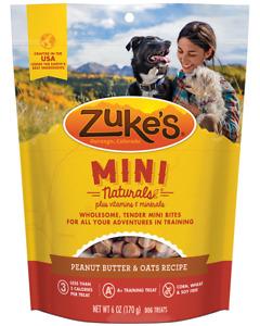 Zuke's Mini Naturals Peanut Butter & Oats Recipe 6oz Pouch