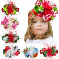 Kids Baby Infant Girl Feather Flower Headband Headwear Hair band Bow Photo Kit