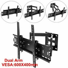 Full Motion TV Wall Mount Bracket Dual Arms Stand 32 - 75 Inch Flat LCD Screen