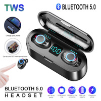 F9 TWS Wireless LED Earphone BT5.0 Mini Stereo Sports Earbuds Voice Headset MIC