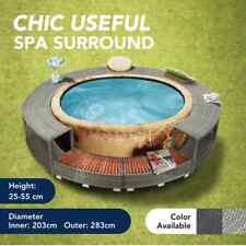 vidaXL Spa Surround Poly Rattan Weather Resistant Hot Tub Surround Black/Grey