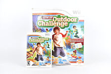 Active Life Outdoor Challenge Complete Box Mat & Video Game CIB For Wii