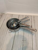 Vintage Stainless Steel Measuring Cup 1 1/2 1/3 1/4 Cup Singapore