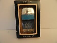 Vintage Scripto VU Lighter Independent Life Ins. Co. with Blue Band in Box