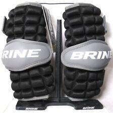 BRINE Clutch Lacrosse Arm Guard (Size XS) Black & Gray CAG15-BKXS >NEW<