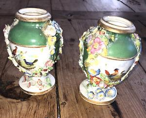 ANTIQUE BLOOR DERBY Vases C 1820