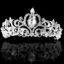 Women Bridal Wedding Rhinestone Crystal Tiara Princess Prom Crown Headband USA